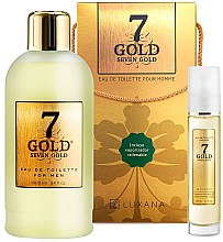 Düfte, Parfümerie und Kosmetik Luxana Seven Gold - Duftset (Eau de Toilette 1000ml + Eau de Toilette 50ml)