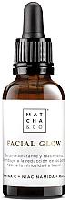 Düfte, Parfümerie und Kosmetik Feuchtigkeitsspendendes, straffendes und aufhellendes Anti-Aging Gesichtsserum mit Vitamin C, Niacinamid und Matcha - Matcha & Co Facial Glow Serum
