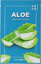 Düfte, Parfümerie und Kosmetik Entspannende Tuchmaske für das Gesicht mit Aloe - The Saem Natural Skin Fit Relaxing Mask Sheet Aloe