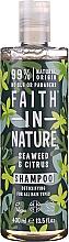 Düfte, Parfümerie und Kosmetik Entgiftendes Shampoo mit Seetang und Zitrusfrüchten für alle Haartypen - Faith In Nature Seaweed & Citrus Shampoo