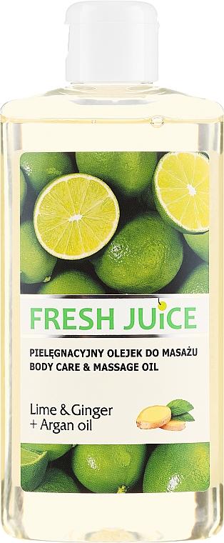 Massageöl mit Limette, Ingwer und Arganöl - Fresh Juice Energy Lime&Ginger+Argan Oil