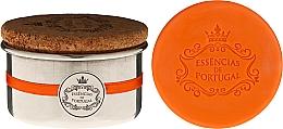 Düfte, Parfümerie und Kosmetik Naturseife - Essencias de Portugal Aluminium Jewel-Keeper With Cork Lid Orange