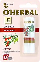 Düfte, Parfümerie und Kosmetik Schützender Lippenbalsam mit Arganöl - O'Herbal Protective Lip Balm with argan oil