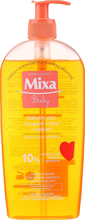 Sanftes schäumendes Bade- und Duschöl für Kinder - Mixa Baby Foaming Oil