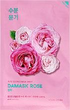 Düfte, Parfümerie und Kosmetik Feuchtigkeitsspendende und aufhellende Gesichtsmaske mit Damaszener Rose - Holika Holika Pure Essence Mask Sheet Damask Rose