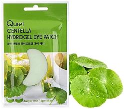 Düfte, Parfümerie und Kosmetik Hydrogel-Augenpatches mit indischem Wassernabel - Quret Centella Hydrogel Eye Patch