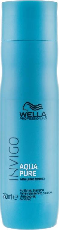 Erfrischendes Shampoo für empfindliche und gereizte Kopfhaut mit Lotusextrakt - Wella Professionals Invigo Aqua Pure Shampoo