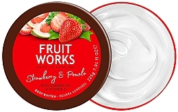 Düfte, Parfümerie und Kosmetik Körperbutter mit Erdbeere und Pampelmuse - Grace Cole Fruit Works Body Butter Strawberry & Pomelo