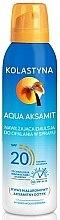 Düfte, Parfümerie und Kosmetik Feuchtigkeitsspendendes Bräunungsemulsion-Spray für den Körper SPF 20 - Kolastyna Aqua Aksamit SPF 20