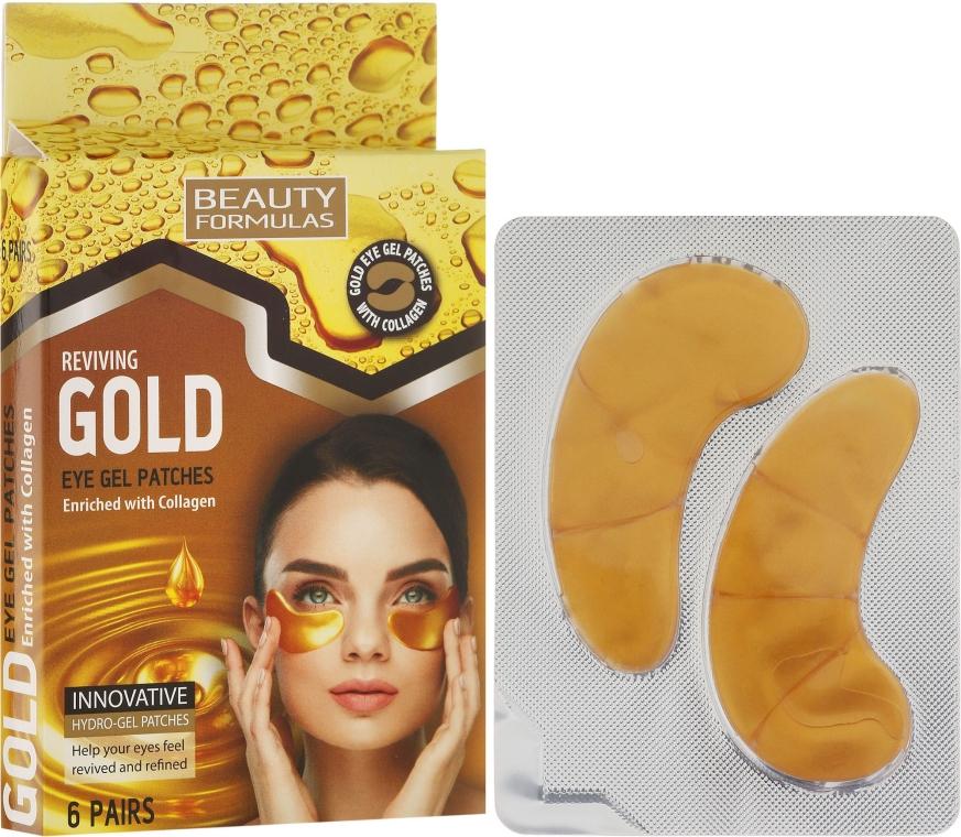 Augen Gel-Pads - Beauty Formulas Reviving Gold Eye Gel Patches