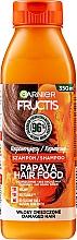 Düfte, Parfümerie und Kosmetik Regenerierendes Shampoo mit Papaya-Extrakt für strapaziertes Haar - Garnier Fructis Repairing Papaya Hair Food Shampoo