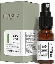 Düfte, Parfümerie und Kosmetik Mundspray Olivenfrische 2,5% - Herbliz CBD Olive Fresh Oil Mouth Spray 2,5%