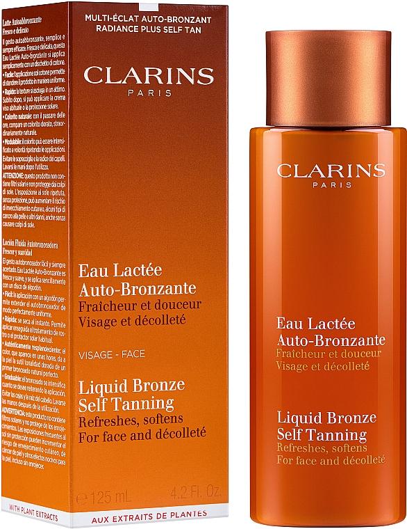 Selbstbräuner für Gesicht und Dekolleté - Clarins Liquid Bronze Self Tanning  — Bild N2
