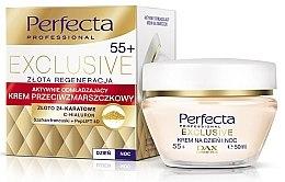 Düfte, Parfümerie und Kosmetik Anti-Falten Tages- und Nachtcreme mit Hyaluronsäure und französischem Safran 55+ - Perfecta Exclusive Face Cream 55+