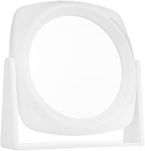 Düfte, Parfümerie und Kosmetik Doppelseitiger Kosmetikspiegel weiß, 15x15 cm - Titania
