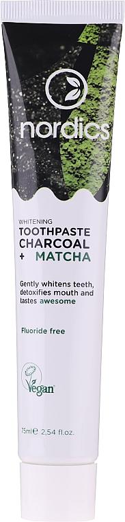 Aufhellende Zahnpasta mit Aktivkohle und Matcha - Nordics Whitening Charcoal Matcha Tooshpaste