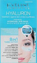 Düfte, Parfümerie und Kosmetik Feuchtigkeitsspendende Anti-Aging Hydrogel-Augenpatches mit Hyaluronsäure, Vitamin A und B3 - Eveline Cosmetics Hyaluron Hydrogel Illuminating Eye Pads 8in1