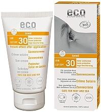 Düfte, Parfümerie und Kosmetik Getönte Sonnenschutzcreme für empfindliche Haut mit Sanddorn- und Olivenöl SPF 30 - Eco Cosmetics Sonne SLF 30 Getoent