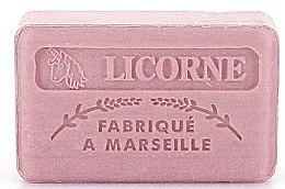 Düfte, Parfümerie und Kosmetik Handgemachte Naturseife Einhorn mit blumigem Monoi-Duft und Sheabutter - Foufour Savonnette Marseillaise Licorne
