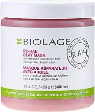 Düfte, Parfümerie und Kosmetik Detox Maske für geschädigtes Haar ohne Parabene - Biolage R.A.W. Re-Hab Clay Mask