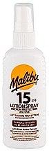 Düfte, Parfümerie und Kosmetik Sonnenschutz-Körperlotion mit Sheabutter und Vitaminen SPF 15 - Malibu Lotion Spray SPF15