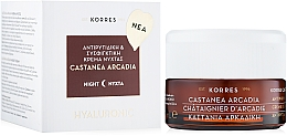 Düfte, Parfümerie und Kosmetik Straffende Nachtcreme gegen Falten für alle Hauttypen - Korres Castanea Arcadia Antiwrinkle & Firming Night Cream for All Skin Types