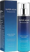 Düfte, Parfümerie und Kosmetik Feuchtigkeitsspendende Gesichtsemulsion mit Hyaluronsäure - Missha Super Aqua Ultra Hyalron Emulsion