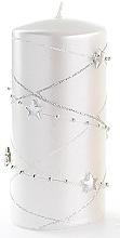 Düfte, Parfümerie und Kosmetik Dekorative Kerze weiß 7x10 cm - Artman Christmas Garland