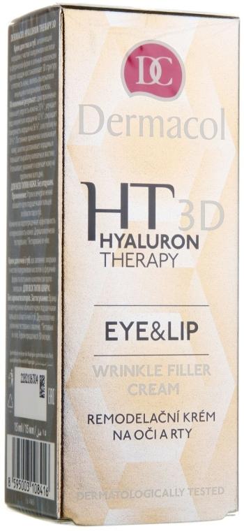 Augen- und Lippencreme mit Hyaluronsäure - Dermacol Hyaluron Therapy 3D Eye and Lip Wrinkle Filler Cream