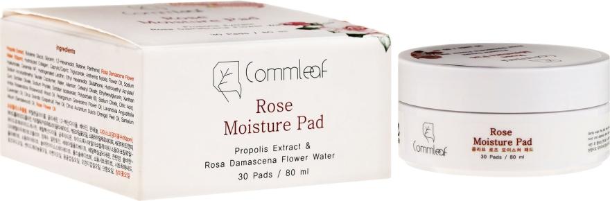 Feuchtigkeitsspendende Wattepads mit Damaszener Rosenwasser und Propolis - Commleaf Rose Moisture Pad — Bild N1