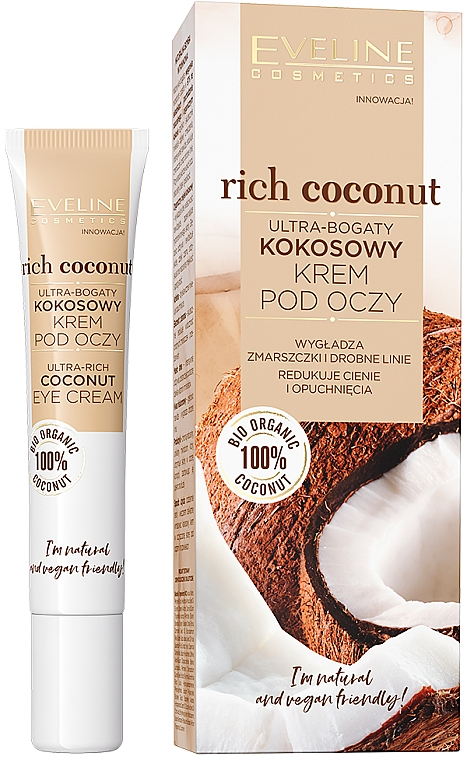 Augencreme mit Kokosnuss - Eveline Cosmetics Rich Coconut Eye Cream