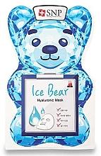 Düfte, Parfümerie und Kosmetik Feuchtigkeitsspendende Tuchmaske für das Gesicht mit Hyaluronsäure - SNP Ice Bear Hyaluronic Mask