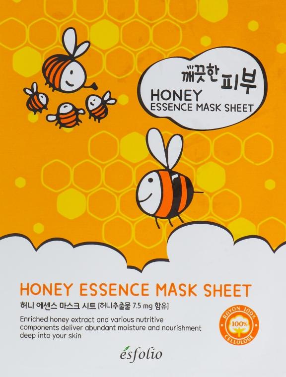 Feuchtigkeitsspendende und nährende Tuchmaske mit Honigextrakt - Esfolio Pure Skin Essence Mask Sheet Honey