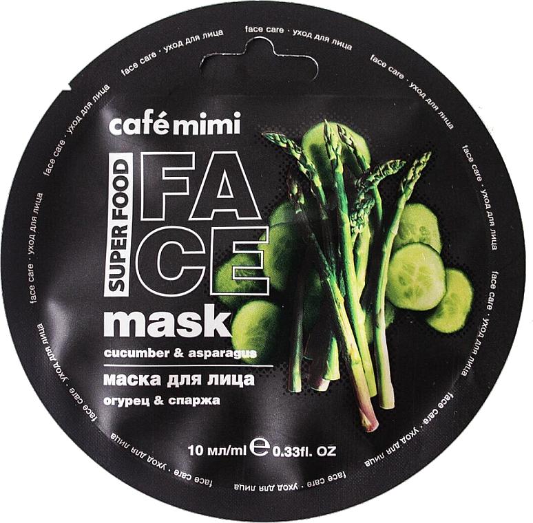 Gesichtsmaske mit Gurke und Spargel - Cafe Mimi Face Mask
