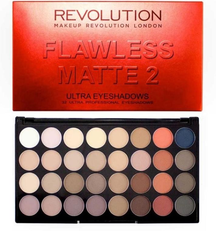 Lidschatten-Palette mit 32 Farben - Makeup Revolution Ultra 32 Shade Palette Flawless Matte 2 — Bild N2