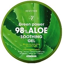 Düfte, Parfümerie und Kosmetik Beruhigendes, feuchtigkeitsspendendes und erfrischendes Aloe Vera-Gel für Gesicht, Körper und Haar - Dewytree Green Power Aloe Soothing Gel