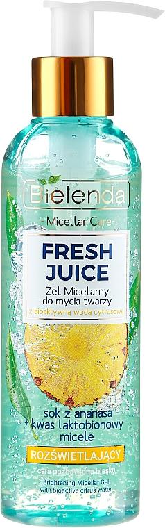 Mizellen-Gesichtswaschgel mit Ananas - Bielenda Fresh Juice Micellar Gel Pineapple