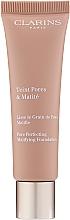 Düfte, Parfümerie und Kosmetik Mattierende, porenverfeinernde Foundation - Clarins Teint Pores & Matite Foundation