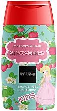 Düfte, Parfümerie und Kosmetik 2in1 Duschgel und Shampoo für Kinder - Gabriella Salvete Kids Strawberry 2in1 Shower Gel