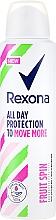Düfte, Parfümerie und Kosmetik Deospray Antitranspirant - Rexona Fruit Spin Antiperspirant Deodorant Spray