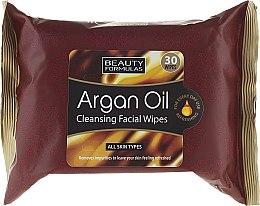 Düfte, Parfümerie und Kosmetik Reinigungstücher für das Gesicht mit Arganöl - Beauty Formulas Argan Oil Cleansing Facial Wipes