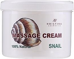Düfte, Parfümerie und Kosmetik Pflegende glättende regenerierende und straffende Massagecreme für Körper und Gesicht mit Schneckenextrakt - Hristina Cosmetics Massage Snail Cream