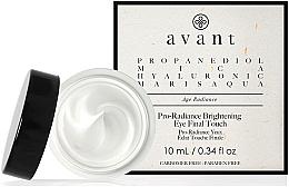 Düfte, Parfümerie und Kosmetik Schimmernde Augencreme für einen glatteren, weicheren und strahlenderen Teint - Avant Skincare Pro-Radiance Brightening Eye Final Touch