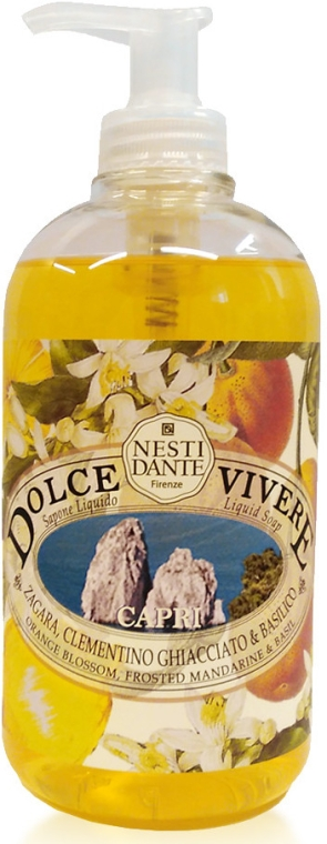 Flüssigseife Capri mit Basilikum, Mandarinensaft und Orangenblüten - Nesti Dante Dolce Vivere Capri Liqiud Soap — Bild N1
