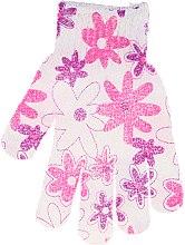 Düfte, Parfümerie und Kosmetik Badehandschuh 30512 weiß-rosa - Top Choice