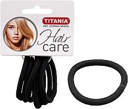 Düfte, Parfümerie und Kosmetik Haargummis 6 St. schwarz 6 mm - Titania