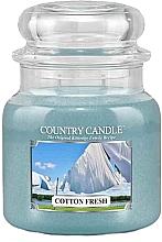 Düfte, Parfümerie und Kosmetik Duftkerze im Glas Cotton Fresh - Country Candle Cotton Fresh