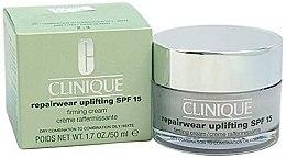 Düfte, Parfümerie und Kosmetik Intensiv regenerierende und straffende Gesichtscreme SPF 15 - Clinique Repairwear Uplifting Cream SPF15
