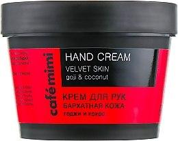 Düfte, Parfümerie und Kosmetik Handcreme mit Goji-Beere und Kokos - Cafe Mimi Hand Cream Velvet Skin