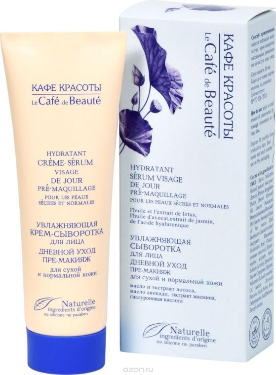Feuchtigkeitsspendende Tagescreme-Serum für das Gesicht - Le Cafe de Beaute Cream Serum Visage